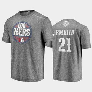 Philadelphia 76ers Joel Embiid Gray T-Shirt